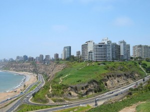 Aerial view of Miraflores, Lima. Source: Wikimedia Commons.