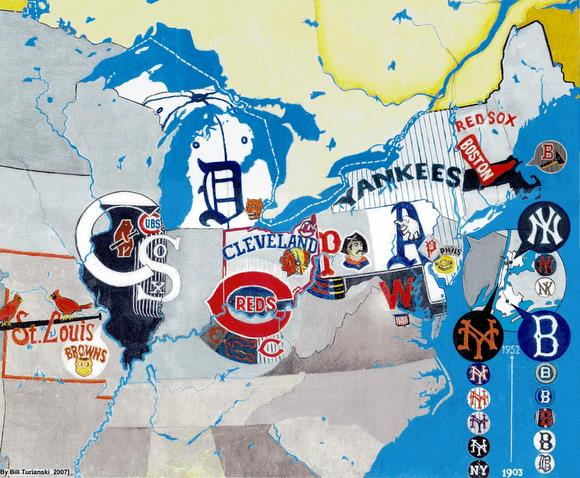 It May Be Useful To Compare The Facebook Map Above Of Teams In Northeast Before Major League Baseballs Relocations And Expansions